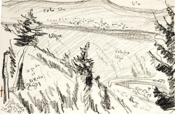 glen onoco [sic] by oscar florianus bluemner